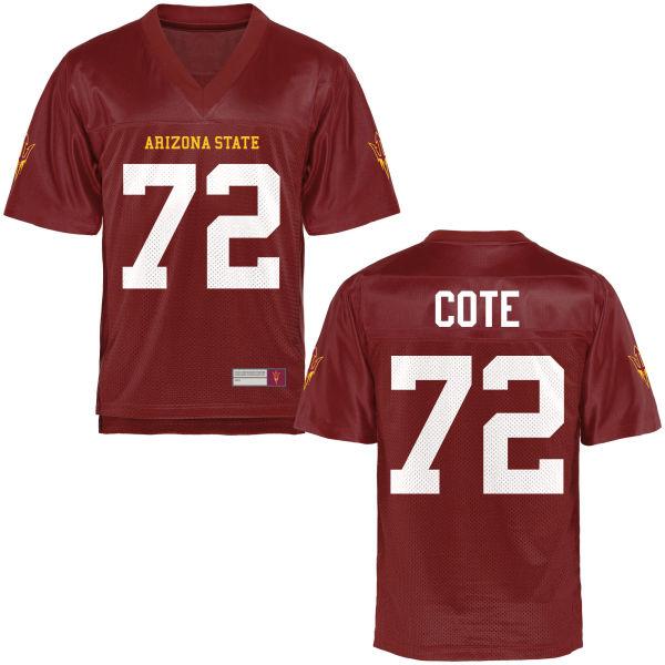 Men's Cade Cote Arizona State Sun Devils Game Football Jersey Maroon