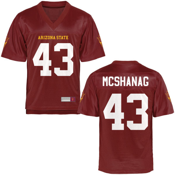 Men's Caleb McShanag Arizona State Sun Devils Authentic Football Jersey Maroon