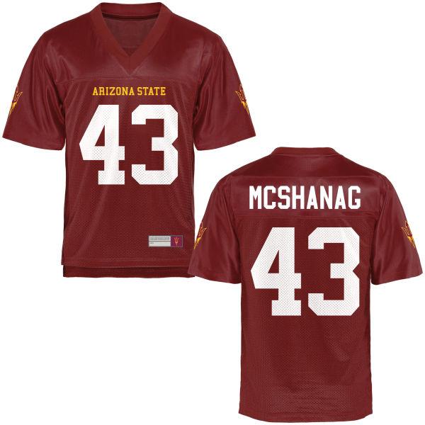 Men's Caleb McShanag Arizona State Sun Devils Game Football Jersey Maroon