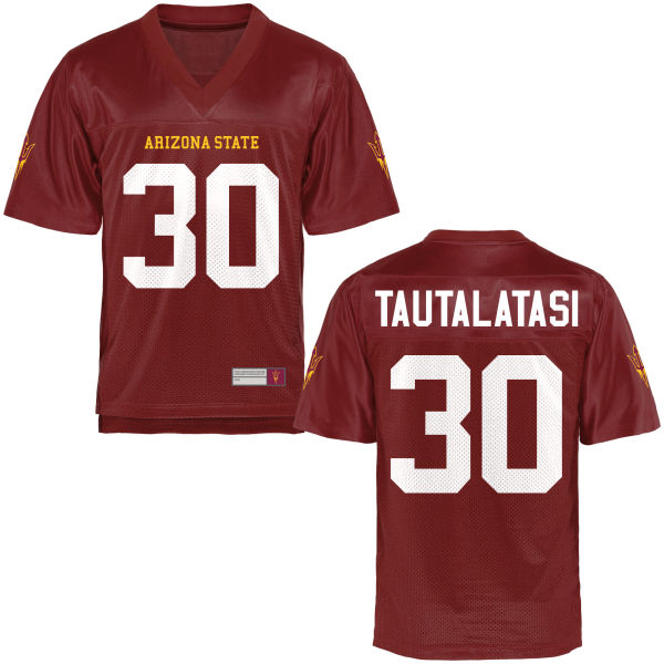 Youth Dasmond Tautalatasi Arizona State Sun Devils Game Football Jersey Maroon