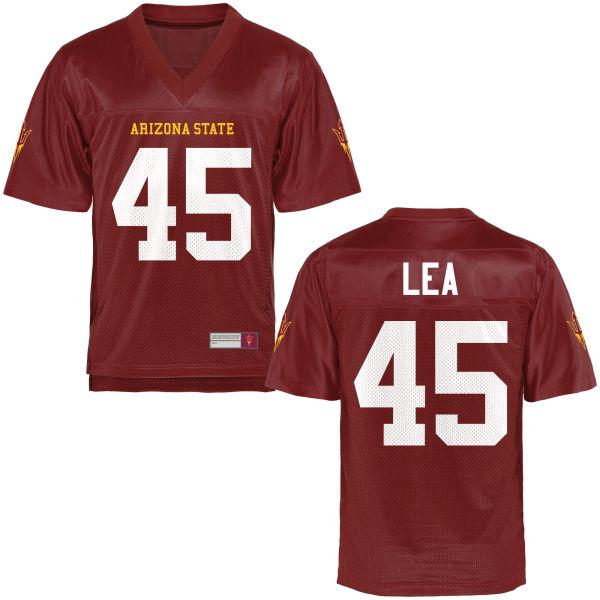 Men's George Lea Arizona State Sun Devils Authentic Football Jersey Maroon