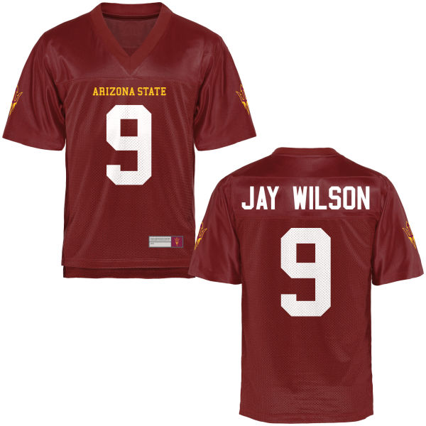 Men's Jay Jay Wilson Arizona State Sun Devils Game Football Jersey Maroon