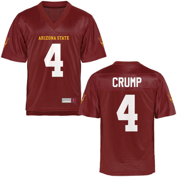 Youth Koron Crump Arizona State Sun Devils Game Football Jersey Maroon