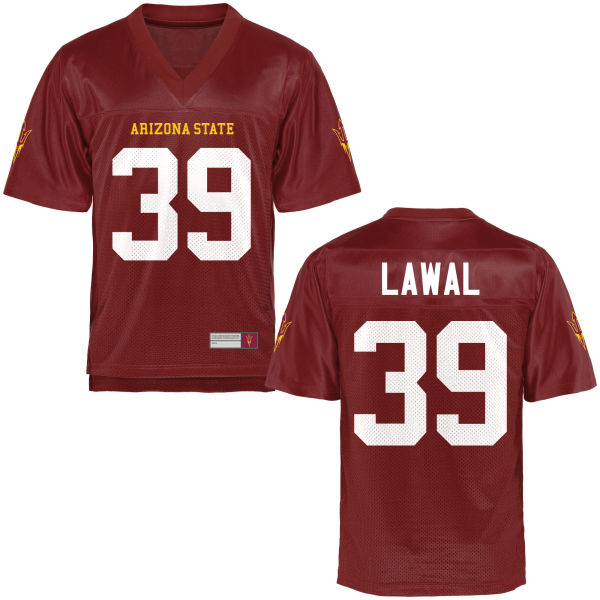 Men's Malik Lawal Arizona State Sun Devils Replica Football Jersey Maroon