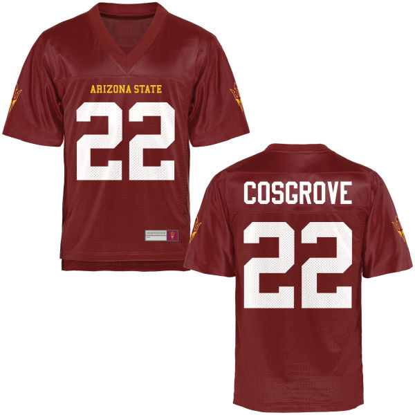 Youth Mark Cosgrove Arizona State Sun Devils Game Football Jersey Maroon