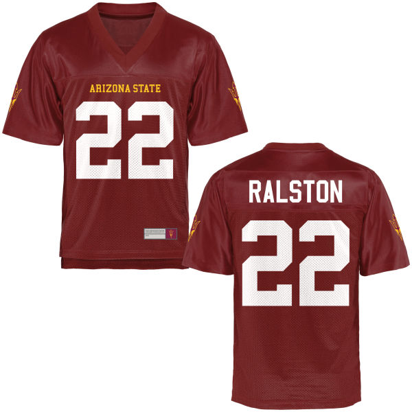 Youth Nick Ralston Arizona State Sun Devils Game Football Jersey Maroon