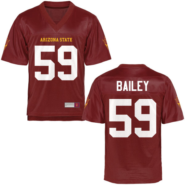 Youth Quinn Bailey Arizona State Sun Devils Game Football Jersey Maroon