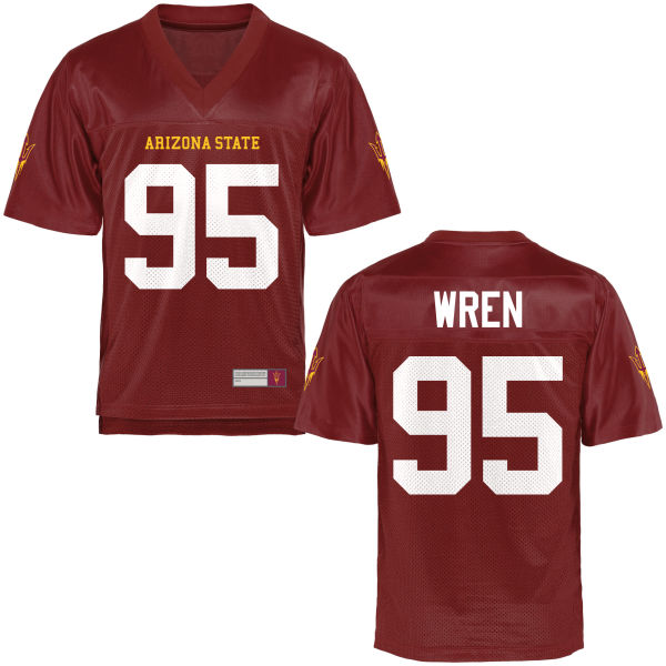 Men's Renell Wren Arizona State Sun Devils Replica Football Jersey Maroon