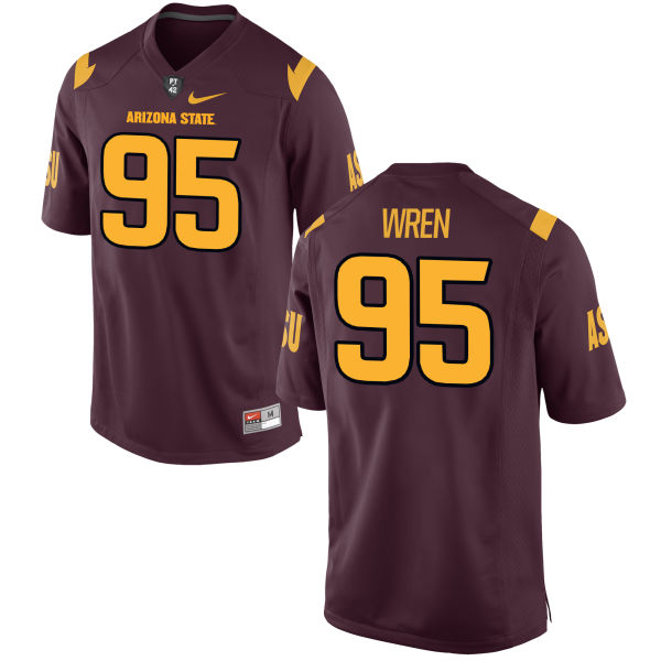 Men's Nike Renell Wren Arizona State Sun Devils Authentic Football Jersey Maroon