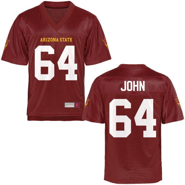 Men's Riley John Arizona State Sun Devils Replica Football Jersey Maroon