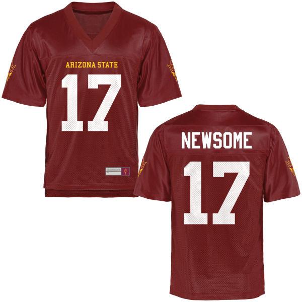 Men's Ryan Newsome Arizona State Sun Devils Game Football Jersey Maroon