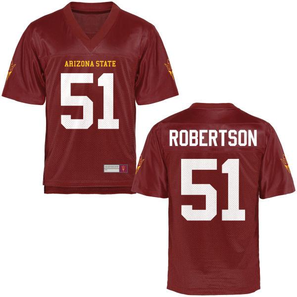 Men's Zach Robertson Arizona State Sun Devils Authentic Football Jersey Maroon