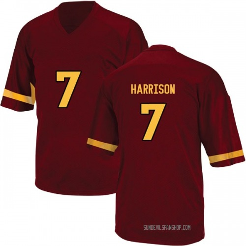 Men's Adidas Dominique Harrison Arizona State Sun Devils Game Maroon Football College Jersey