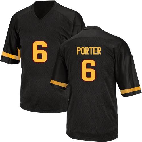 Men's Adidas Geordon Porter Arizona State Sun Devils Game Black Football College Jersey
