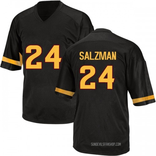 Men's Adidas Jordan Salzman Arizona State Sun Devils Game Black Football College Jersey