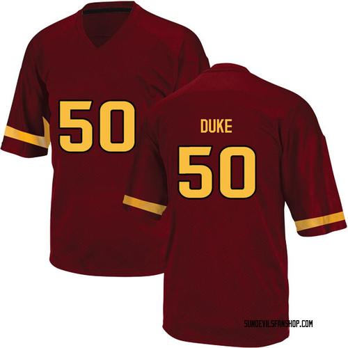 Men's Adidas Ochuko Duke Arizona State Sun Devils Game Maroon Football College Jersey
