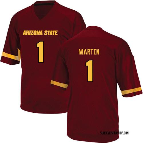 Men's Adidas Remy Martin Arizona State Sun Devils Replica Maroon Football College Jersey