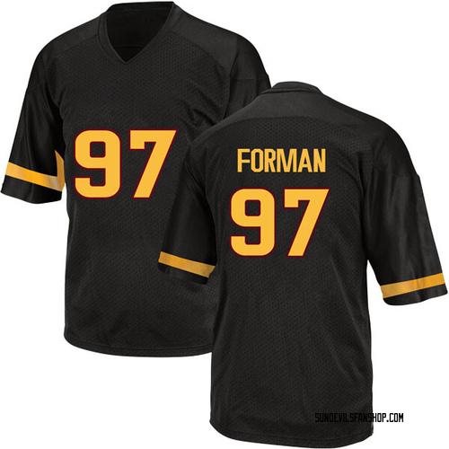 Men's Adidas Shannon Forman Arizona State Sun Devils Replica Black Football College Jersey