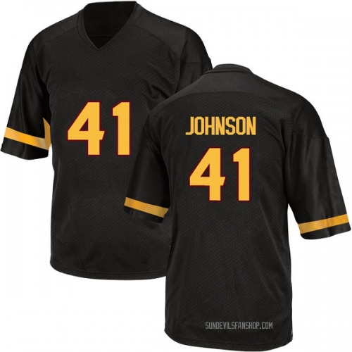 Men's Adidas Tyler Johnson Arizona State Sun Devils Replica Black Football College Jersey