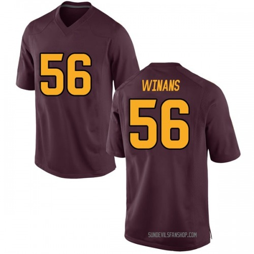 Men's Nike Benjamin Winans Arizona State Sun Devils Game Maroon Football College Jersey