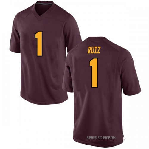 Men's Nike Brandon Ruiz Arizona State Sun Devils Game Maroon Football College Jersey