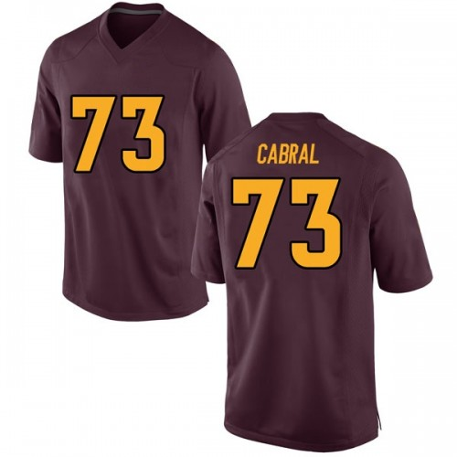 Men's Nike Cohl Cabral Arizona State Sun Devils Game Maroon Football College Jersey