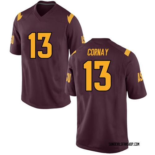 Men's Nike Darien Cornay Arizona State Sun Devils Replica Maroon Football College Jersey