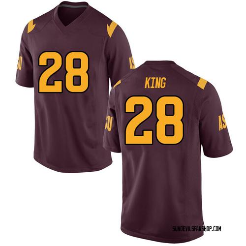 Men's Nike Demonte King Arizona State Sun Devils Game Maroon Football College Jersey
