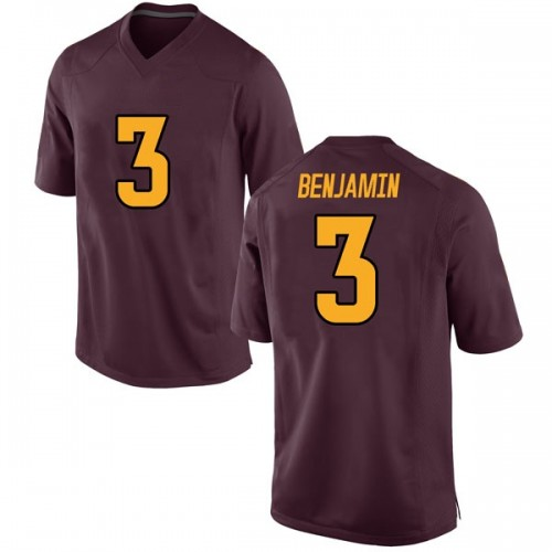 Men's Nike Eno Benjamin Arizona State Sun Devils Replica Maroon Football College Jersey