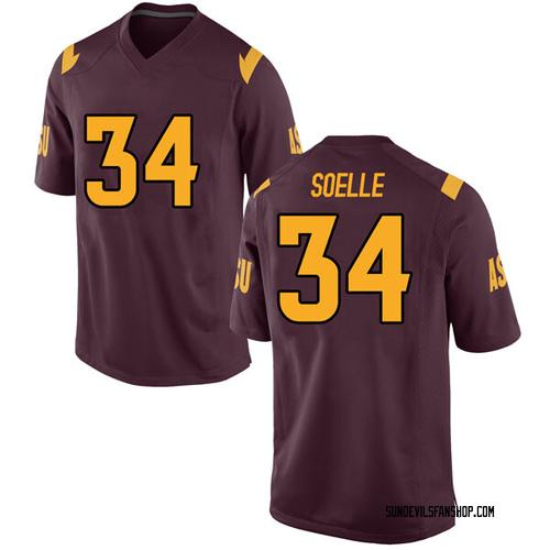 Men's Nike Kyle Soelle Arizona State Sun Devils Game Maroon Football College Jersey