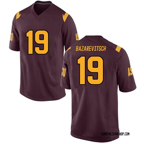 Men's Nike Matthew Bazarevitsch Arizona State Sun Devils Game Maroon Football College Jersey