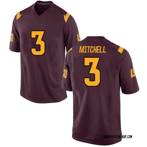 Men's Nike Mickey Mitchell Arizona State Sun Devils Game Maroon Football College Jersey