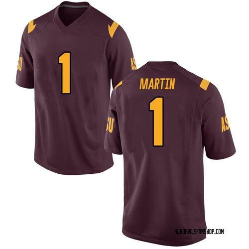 Men's Nike Remy Martin Arizona State Sun Devils Replica Maroon Football College Jersey