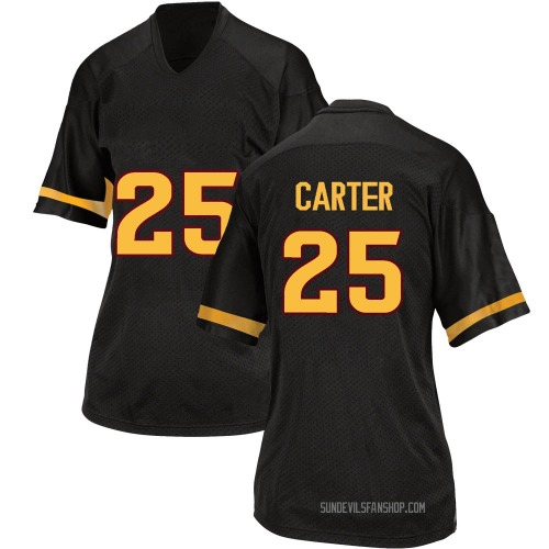Women's Adidas A.J. Carter Arizona State Sun Devils Game Black Football College Jersey