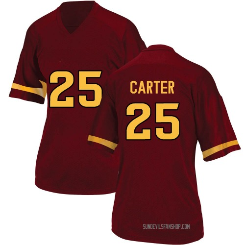 Women's Adidas A.J. Carter Arizona State Sun Devils Game Maroon Football College Jersey