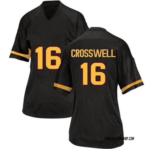 Women's Adidas Aashari Crosswell Arizona State Sun Devils Replica Black Football College Jersey