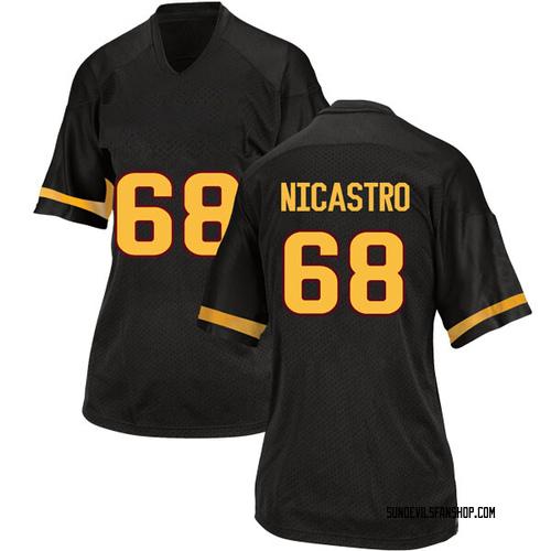 Women's Adidas Anthony Nicastro Arizona State Sun Devils Replica Black Football College Jersey
