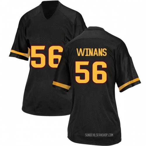 Women's Adidas Benjamin Winans Arizona State Sun Devils Replica Black Football College Jersey