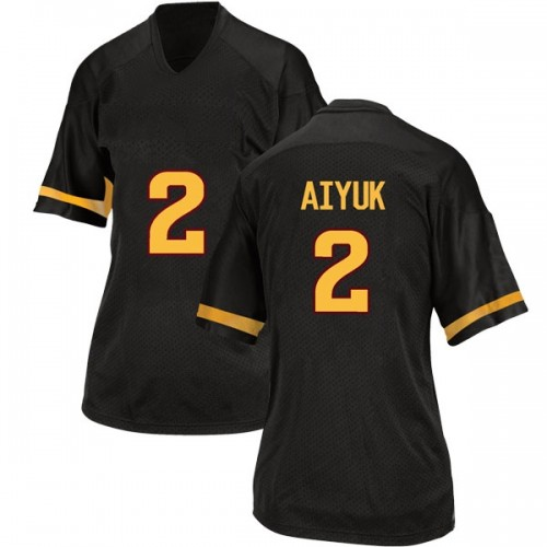Women's Adidas Brandon Aiyuk Arizona State Sun Devils Game Black Football College Jersey