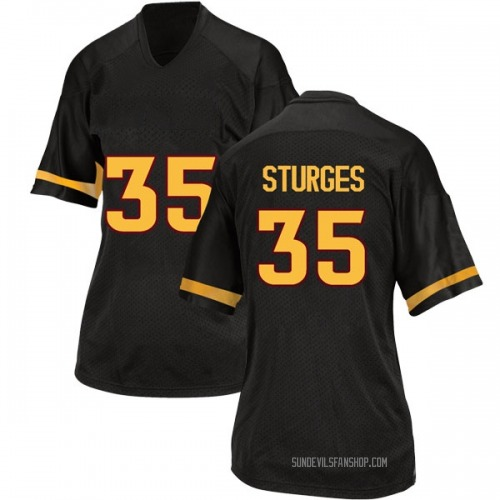 Women's Adidas Brock Sturges Arizona State Sun Devils Game Black Football College Jersey