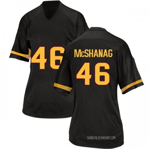 Women's Adidas Caleb McShanag Arizona State Sun Devils Game Black Football College Jersey