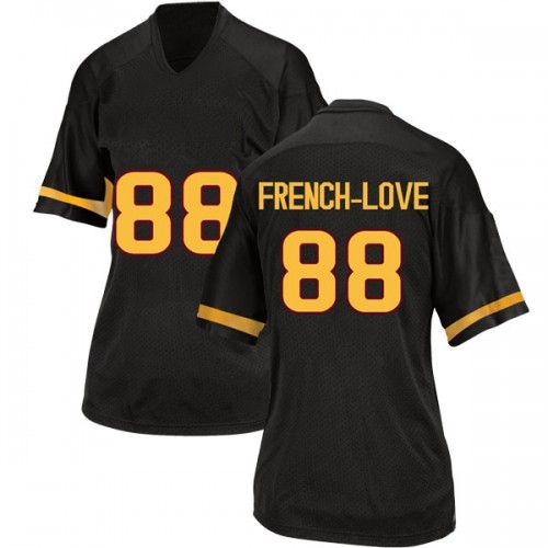 Women's Adidas Ceejhay French-Love Arizona State Sun Devils Replica Black Football College Jersey