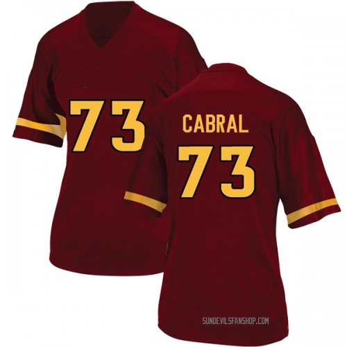 Women's Adidas Cohl Cabral Arizona State Sun Devils Game Maroon Football College Jersey