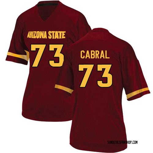 Women's Adidas Cohl Cabral Arizona State Sun Devils Replica Maroon Football College Jersey