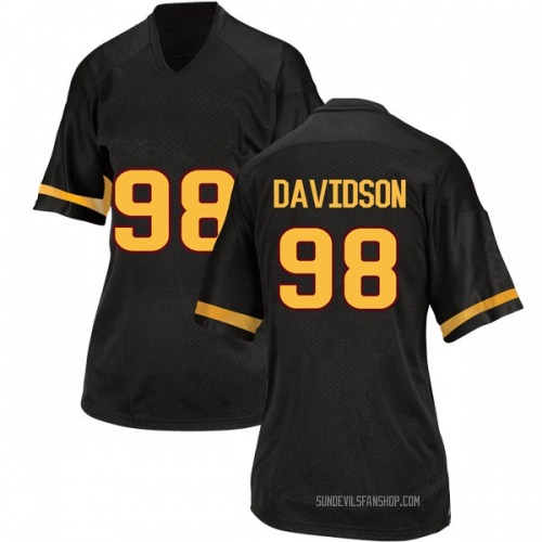 Women's Adidas D.J. Davidson Arizona State Sun Devils Game Black Football College Jersey