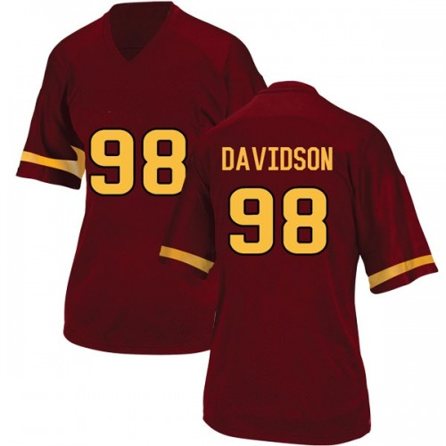 Women's Adidas D.J. Davidson Arizona State Sun Devils Replica Maroon Football College Jersey