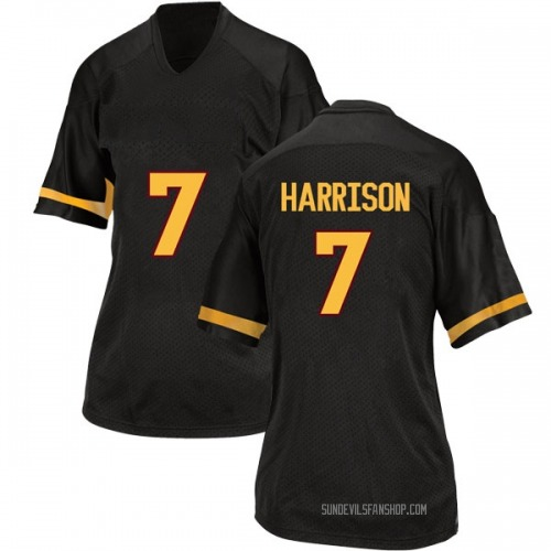 Women's Adidas Dominique Harrison Arizona State Sun Devils Game Black Football College Jersey