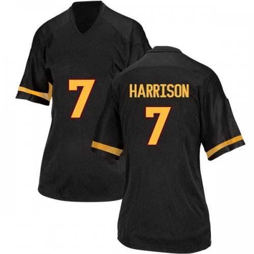Women's Adidas Dominique Harrison Arizona State Sun Devils Replica Black Football College Jersey