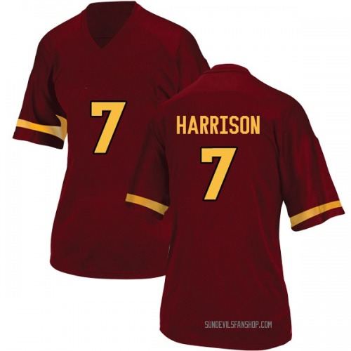 Women's Adidas Dominique Harrison Arizona State Sun Devils Replica Maroon Football College Jersey