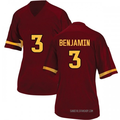 Women's Adidas Eno Benjamin Arizona State Sun Devils Game Maroon Football College Jersey